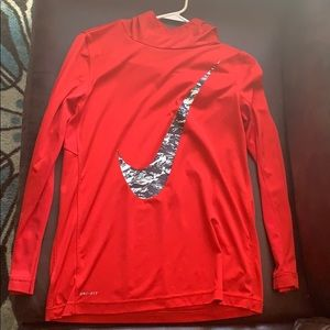 Red Nike Long Sleeve in a Youth XL